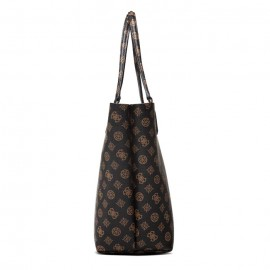 GUESS ALBY TOGGLE TOTE  ΓΥΝΑΙΚΕΙΑ ΤΣΑΝΤΑ ECO LEATHER MOCHA/COGNAC