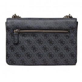 GUESS ALISA CONVERTIBLE XBODY FLAP  ΓΥΝΑΙΚΕΙΑ ΤΣΑΝΤΑ ECO LEATHER COAL