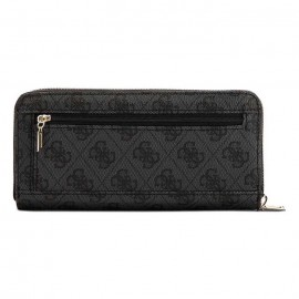 GUESS VIKKY SLG LARGE ZIP AROUND ΓΥΝΑΙΚΕΙΑ ΤΣΑΝΤΑ ECO LEATHER COAL
