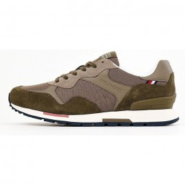 TOMMY HILFIGER RETRO RUNNER SEASONAL MIX SNEAKER ECO LEATHER ARMY GREEN