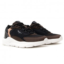 PEPE JEANS BROOKS TECH ΑΝΔΡΙΚΑ SNEAKER ECO LEATHER STAG