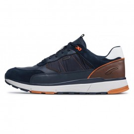 GEOX U DOLOMIA B ABX A - SMO.LE+NYL ΑΝΔΡΙΚΑ SNEAKERS ΔΕΡΜΑ/ΣΥΝΘΕΤΙΚΟ/ΥΦΑΣΜΑ NAVY