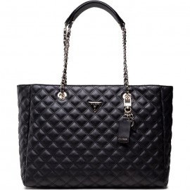 GUESS CESSILY TOTE ΓΥΝΑΙΚΕΙΑ ΤΣΑΝΤΑ ECO LEATHER ΜΑΥΡΗ