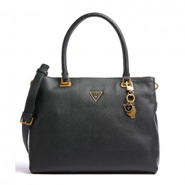 GUESS DESTINY SOCIETY CARRYALL ΓΥΝΑΙΚΕΙΑ ΤΣΑΝΤΑ ECO LEATHER COGNAC