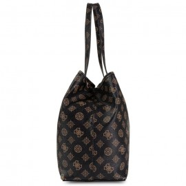 GUESS VIKKY TOTE ΓΥΝΑΙΚΕΙΑ ΤΣΑΝΤΑ ECO LEATHER ΚΑΦΕ