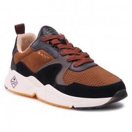 GANT NICEWILL ΑΝΔΡΙΚΑ SNEAKERS ΔΕΡΜΑ SUEDE TOBACCO MULTI