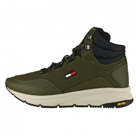 HYBRID TOMMY JEANS BOOT LEATHER MEN ARMY GREEN