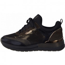 TAMARIS ΓΥΝΑΙΚΕΙΟ SNEAKER ECO LEATHER/ΥΦΑΣΜΑ MOCCA