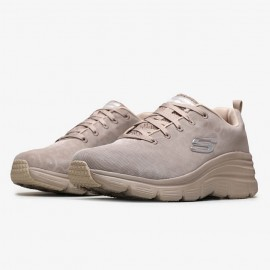 SKECHERS ΓΥΝΑΙΚΕΙΑ SNEAKERS ΥΦΑΣΜΑ TAUPE
